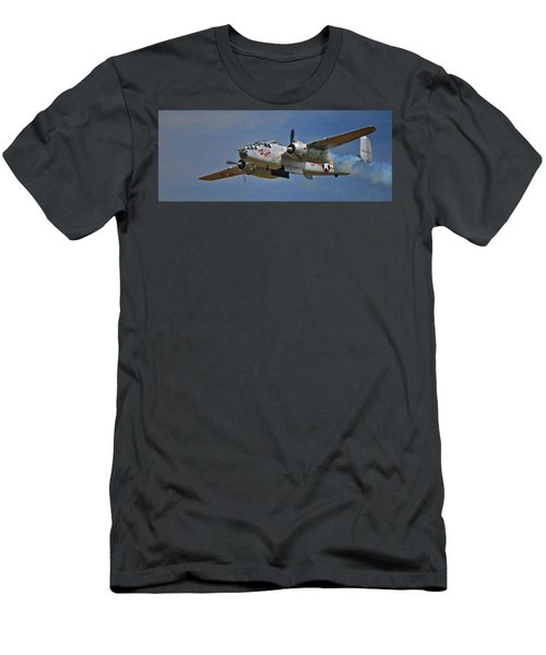 B-25 Take-off Time 3748 Men's T-Shirt (Athletic Fit)