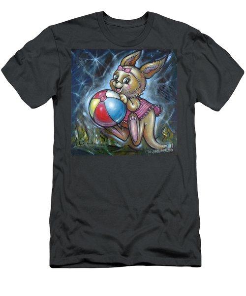 Baby Kangaroo 150911 Men's T-Shirt (Slim Fit) by Selena Boron