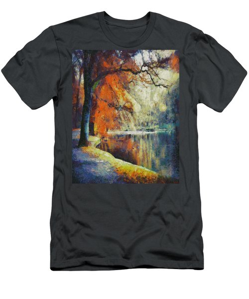 Men's T-Shirt (Slim Fit) featuring the painting Back To Our Dreams by Joe Misrasi
