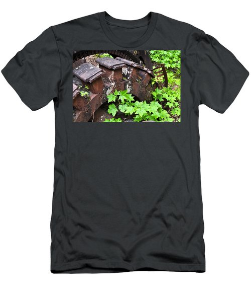 Men's T-Shirt (Slim Fit) featuring the photograph Back To The Forest by Cathy Mahnke