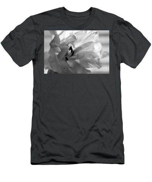 Backlit Black And White Tulip Men's T-Shirt (Athletic Fit)