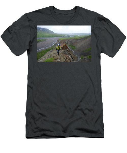 Backpacking Denali National Park Men's T-Shirt (Athletic Fit)