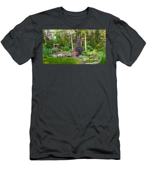 Backyard Garden In Loon Lake, Spokane Men's T-Shirt (Athletic Fit)