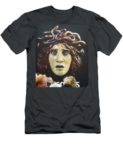 Men's T-Shirt (Slim Fit) featuring the photograph bad hair day at d'Orsay museum, Paris.  by Joe Schofield