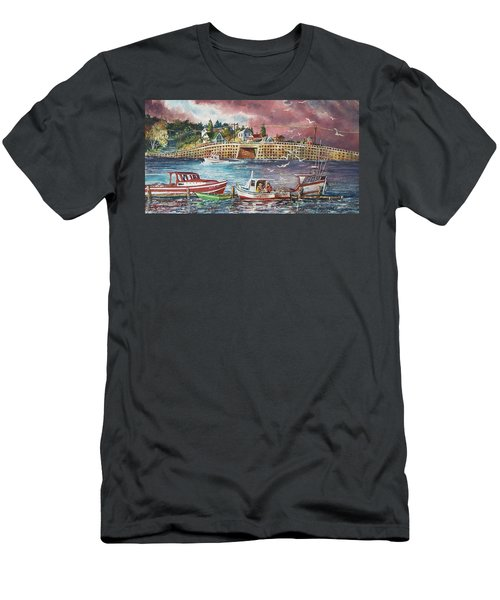 Bailey Island Cribstone Bridge Men's T-Shirt (Athletic Fit)