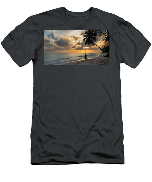 Men's T-Shirt (Athletic Fit) featuring the photograph Bajan Fisherman by Garvin Hunter