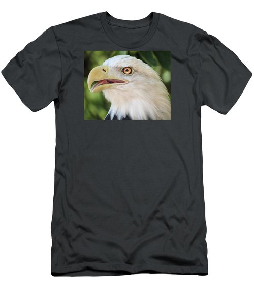 Men's T-Shirt (Slim Fit) featuring the photograph American Bald Eagle Portrait - Bright Eye by Patti Deters