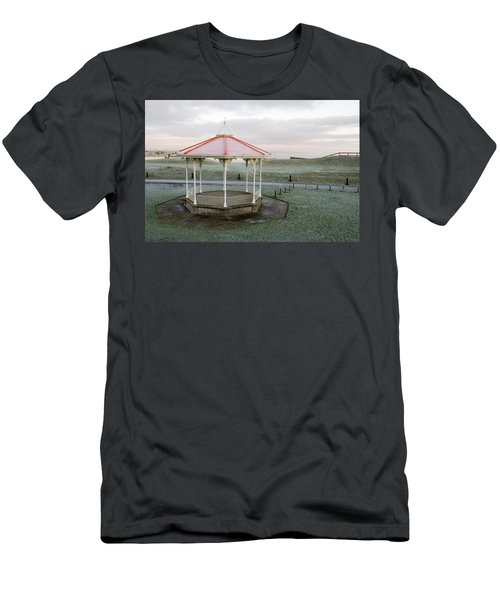 Men's T-Shirt (Slim Fit) featuring the photograph Bandstand In Winter by Jeremy Voisey