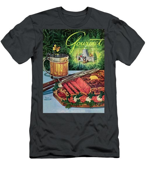 Barbeque Meat And A Mug Of Beer Men's T-Shirt (Athletic Fit)