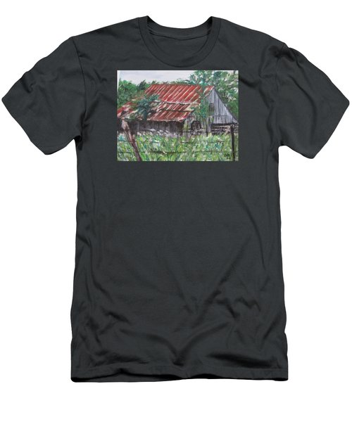 Barn In Montana Men's T-Shirt (Athletic Fit)