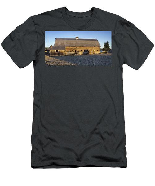 Barn In Rural Washington Men's T-Shirt (Slim Fit) by Cathy Anderson