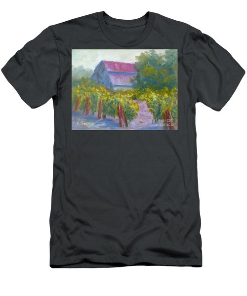 Barn In Vineyard Men's T-Shirt (Athletic Fit)