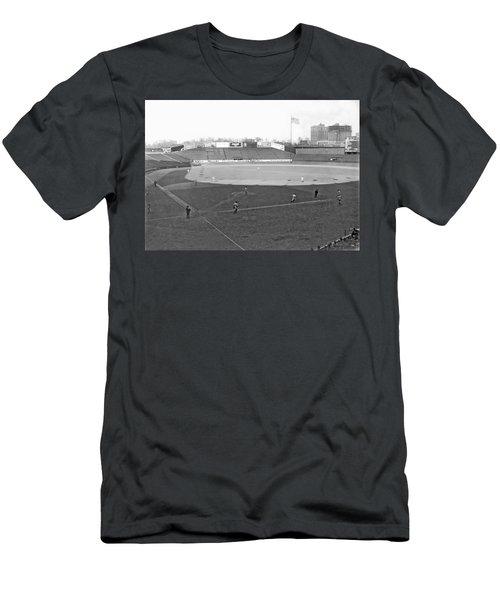 Baseball At Yankee Stadium Men's T-Shirt (Slim Fit) by Underwood Archives