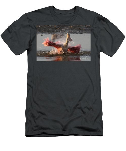 Bath Time - Roseate Spoonbill Men's T-Shirt (Athletic Fit)