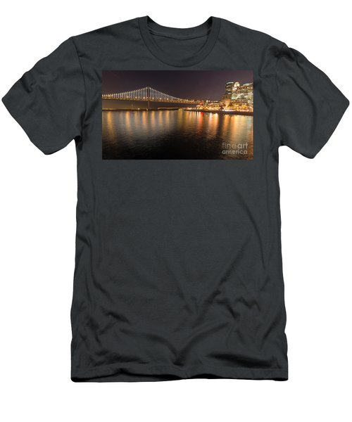 Bay Bridge Lights And City Men's T-Shirt (Athletic Fit)