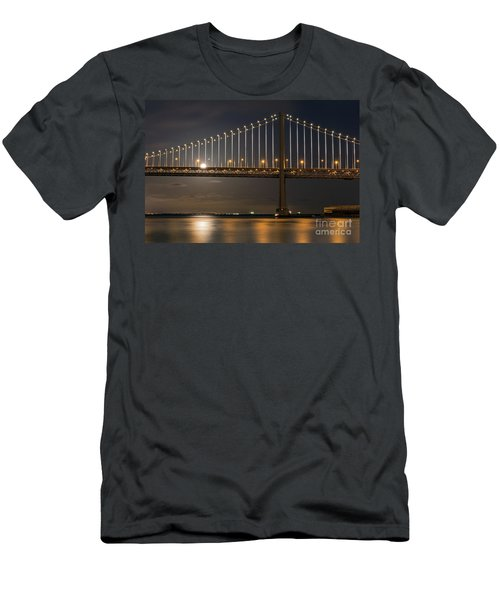 Bay Bridge Moon Rising Men's T-Shirt (Athletic Fit)