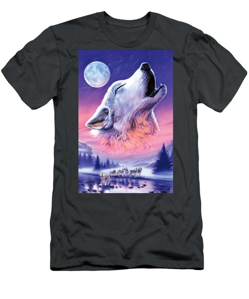 Baying To The Moon Men's T-Shirt (Athletic Fit)