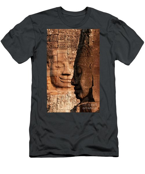 Bayon Faces 02 Men's T-Shirt (Athletic Fit)