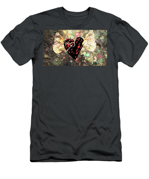 Men's T-Shirt (Slim Fit) featuring the photograph Be My Valentine by Ally  White