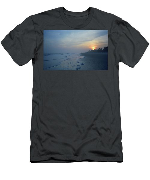 Beach And Sunset Men's T-Shirt (Athletic Fit)