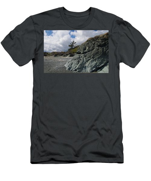 Beach At Fort Rodd Hill Men's T-Shirt (Athletic Fit)