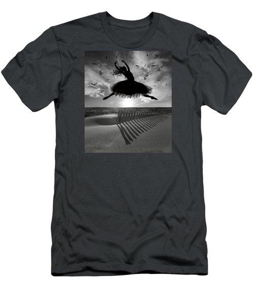 Men's T-Shirt (Slim Fit) featuring the digital art Beach Ballerina by Nina Bradica