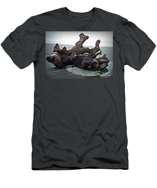 Beach Driftwood In Color Men's T-Shirt (Athletic Fit)
