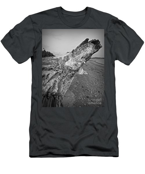 Beach Driftwood View Men's T-Shirt (Athletic Fit)