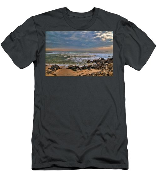 Beach Landscape Men's T-Shirt (Athletic Fit)