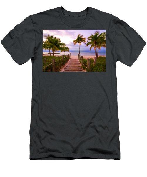 Beach Path Men's T-Shirt (Athletic Fit)