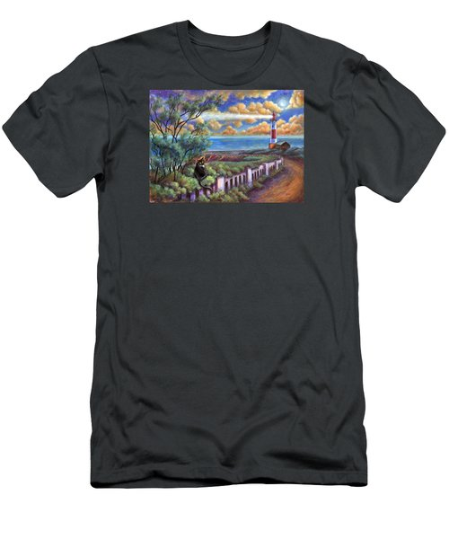 Beacons In The Moonlight Men's T-Shirt (Slim Fit) by Retta Stephenson