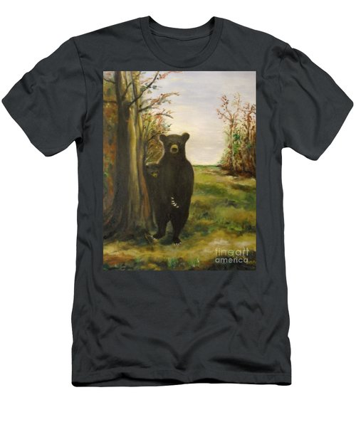 Men's T-Shirt (Athletic Fit) featuring the painting Bear Necessity by Laurie Lundquist