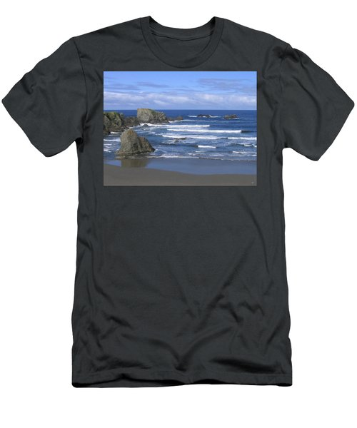 Men's T-Shirt (Athletic Fit) featuring the photograph Beautiful Bandon Beach by Will Borden