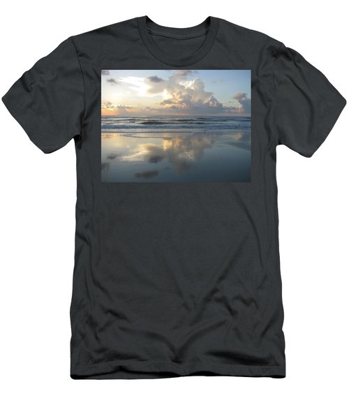 Beautiful Beach Sunrise Men's T-Shirt (Slim Fit) by Ellen Meakin