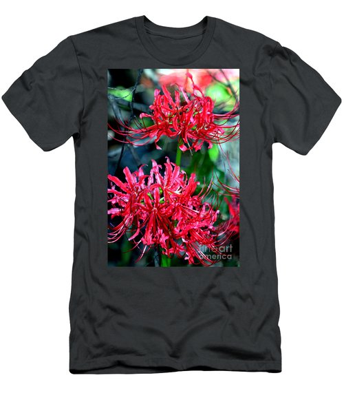 Beauty Of Red Spider Lilies Men's T-Shirt (Athletic Fit)