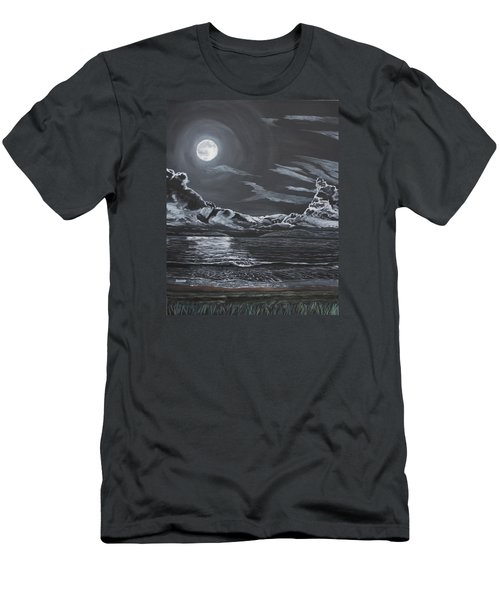 Men's T-Shirt (Slim Fit) featuring the painting Beauty Of The Night by Ian Donley