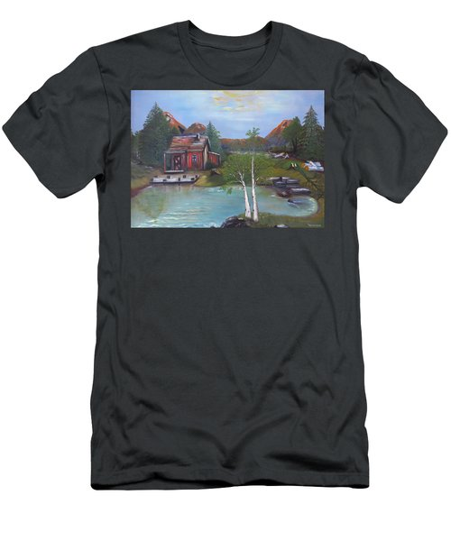Beaver Pond - Mary Krupa Men's T-Shirt (Athletic Fit)
