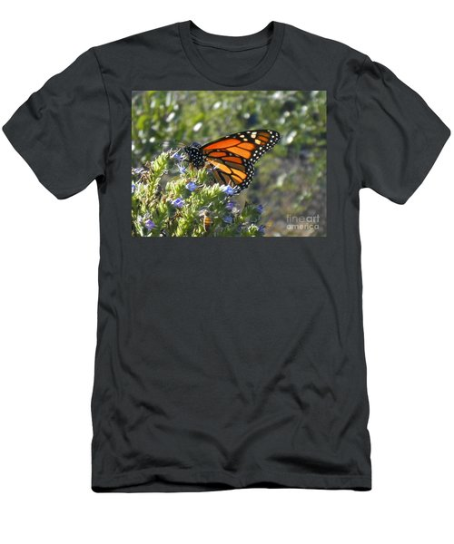 Bee And Monarch  Men's T-Shirt (Athletic Fit)