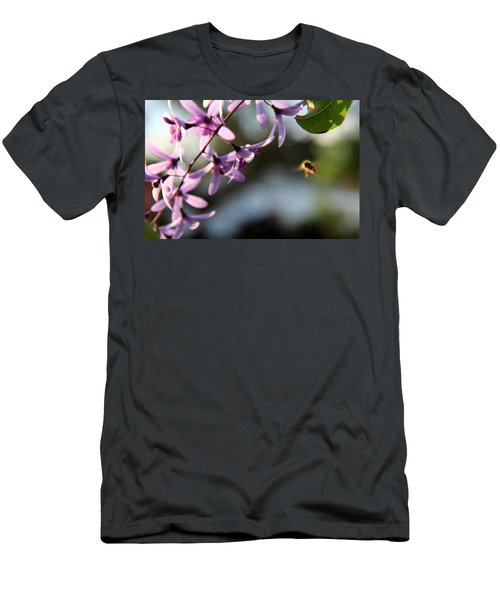 Men's T-Shirt (Slim Fit) featuring the photograph Bee Back by Greg Allore