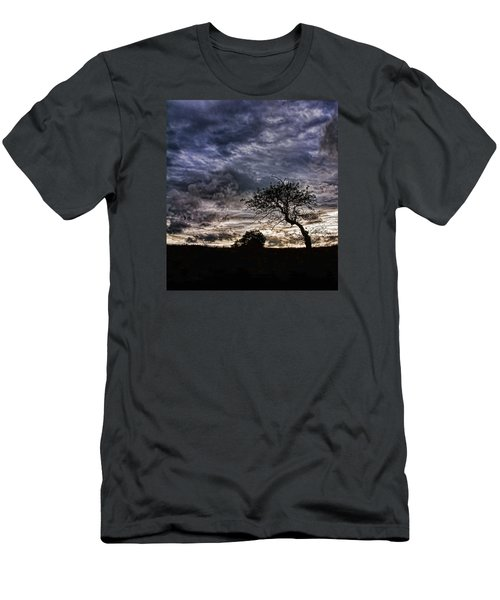 Nova Scotia's Lonely Tree Before The Storm  Men's T-Shirt (Slim Fit)