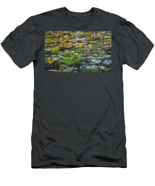 Men's T-Shirt (Slim Fit) featuring the painting Beijing In August by Thu Nguyen