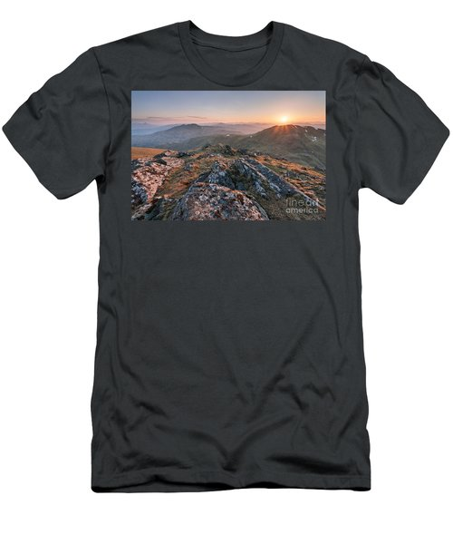 Sunset From Beinn Ghlas - Scotland Men's T-Shirt (Athletic Fit)