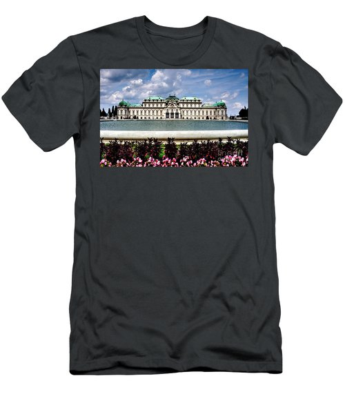 Men's T-Shirt (Slim Fit) featuring the photograph Belvedere Palace by Joe  Ng