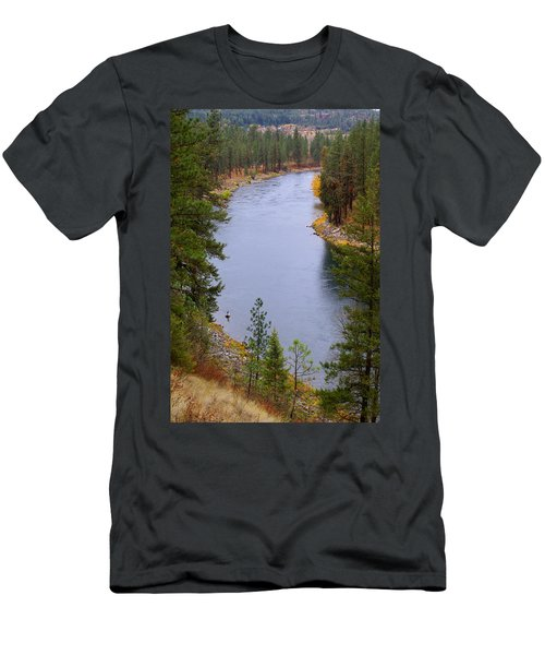 Bend In The River Men's T-Shirt (Athletic Fit)