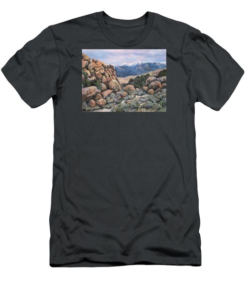 Men's T-Shirt (Slim Fit) featuring the painting Benton by Donna Tucker