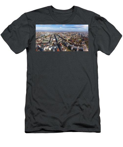 Berlin Aerial Panorama Men's T-Shirt (Athletic Fit)