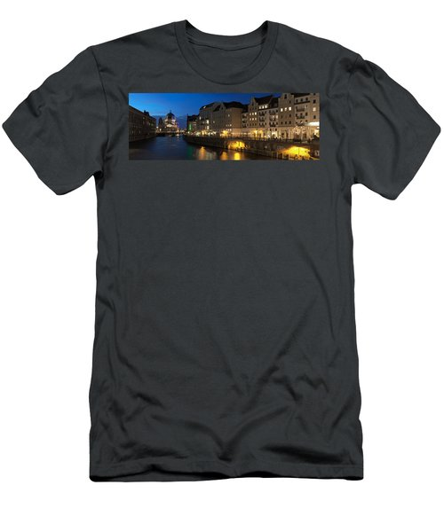 Berlin Cathedral And Nikolaiviertel Men's T-Shirt (Athletic Fit)