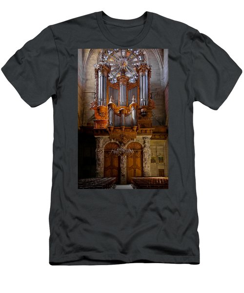 Beziers Pipe Organ Men's T-Shirt (Athletic Fit)