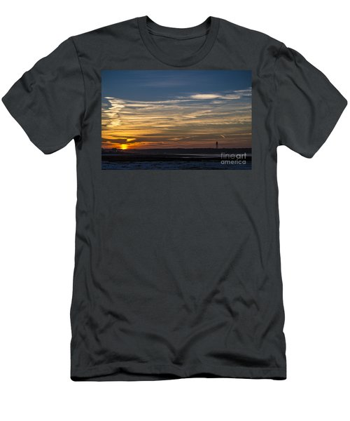 Biddeford Pool Maine Sunset Men's T-Shirt (Athletic Fit)