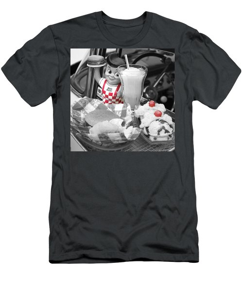 Big Boy In Black And White Men's T-Shirt (Slim Fit) by Sonya Lang